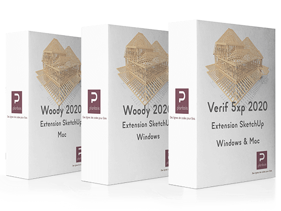 produits woody pour sketchup